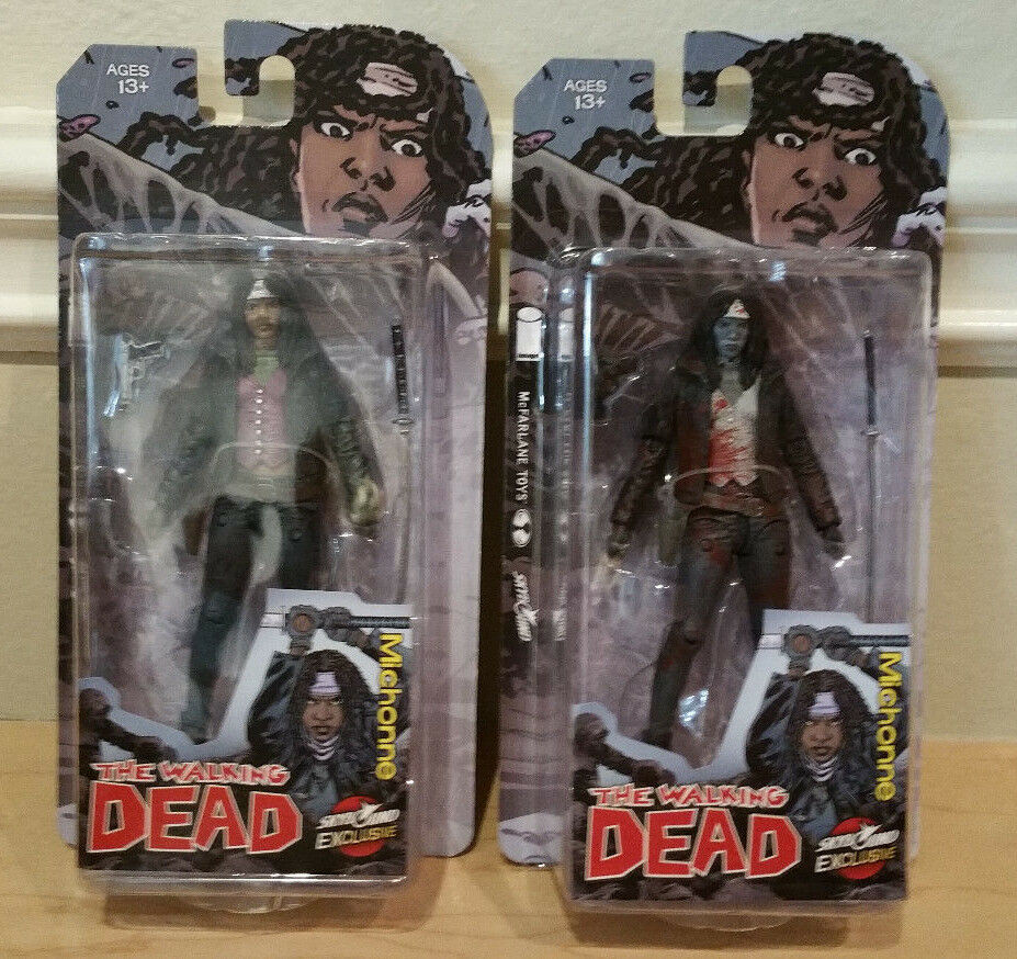 2015 SDCC The Walking Dead Dead Dead McFarlane Toys Skybound EXCLUSIVE MICHONNE Set of Two 9e8fbe