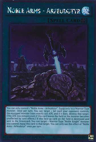 Noble Arms Arfeudutyr Spell Platinum Rare Yugioh Card Single NKRT-EN020