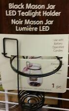 black mason jar led tealight holder, for mason jar narrow mouth