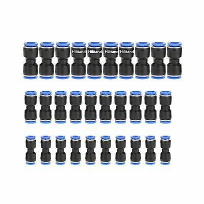 Air Line Fittings Plastic Quick Release Straight Push-In Connector For 1//4 5//16 3//8 Tube 30pcs