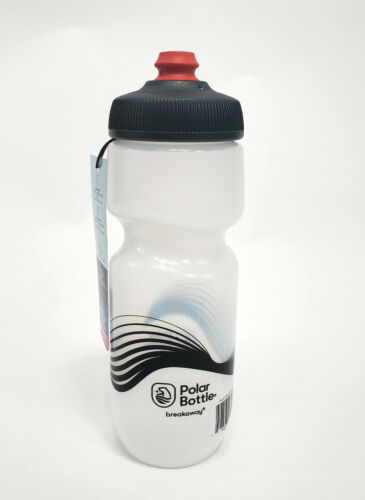 Polar Bottles Breakaway Wave Water Bottle 24oz Frost//Charcoal BPA Free