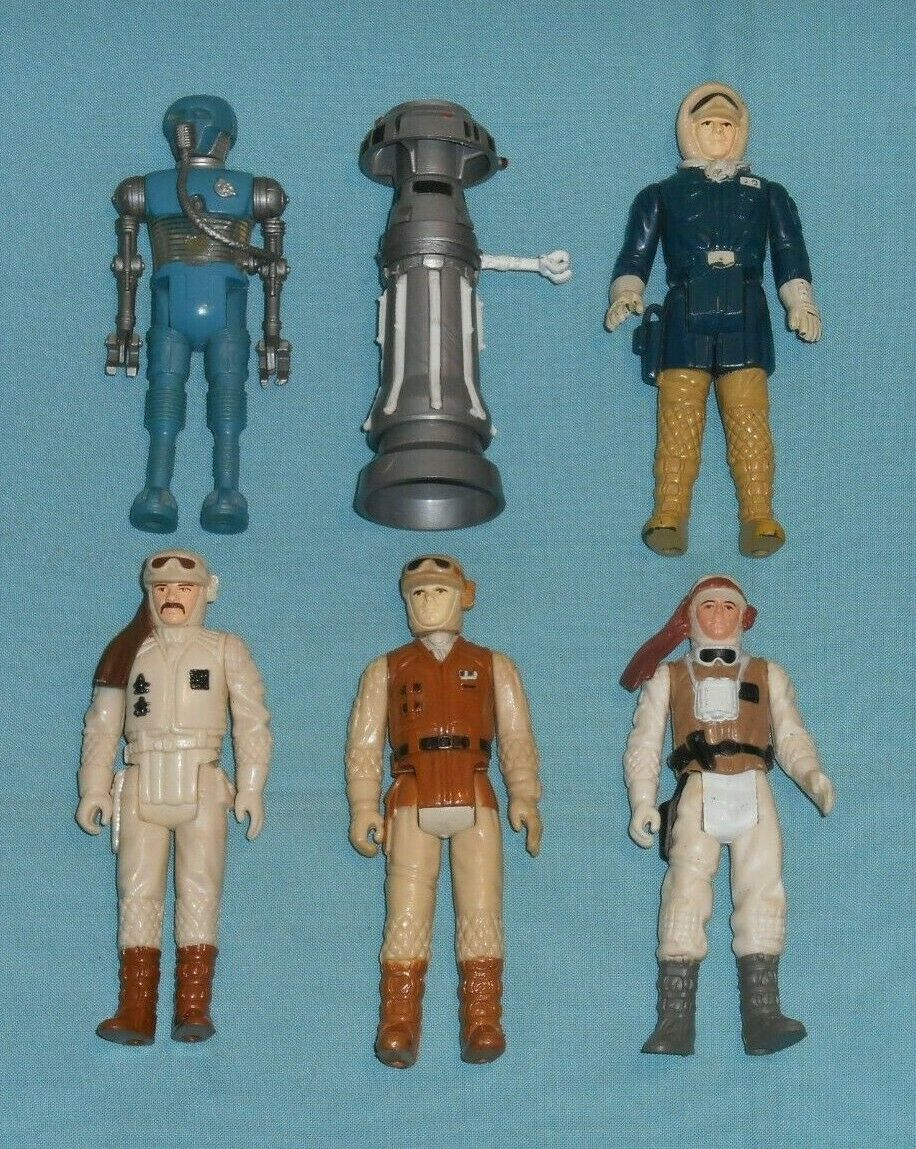 Vintage STAR WARS FIGURE LOT  208 Luke Han Hoth FX-7 Rebel Soldier 2-1B