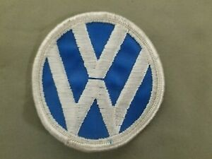 VW Circle Embroidered Iron On Patch
