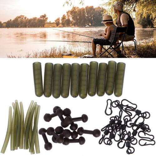 10+15Sets Carp Fishing Chod Rig Safety Sleeves Lead Clips Slide Heli Rigs Tackle