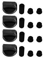 4 X Universal SMEG Cooker/Oven/Grill Control Knob And Adaptors BLACK