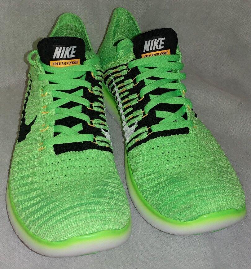 Nike Nike Nike libera rn flyknit Uomo sz 10,5 scarpe verde neon 831069 300 7a8253