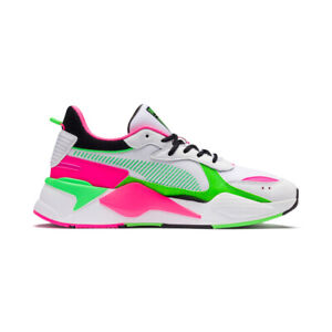 Details about New Puma X MTV RS X Tracks Bold WhiteFluro Green Sneakers Shoes 37040801 2019