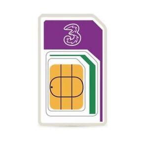 Three UK Sim Card 12GB of Data