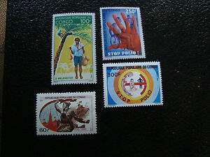 CONGO-brazzaville-timbre-yt-n-687-743-744-761-n-A7-stamp