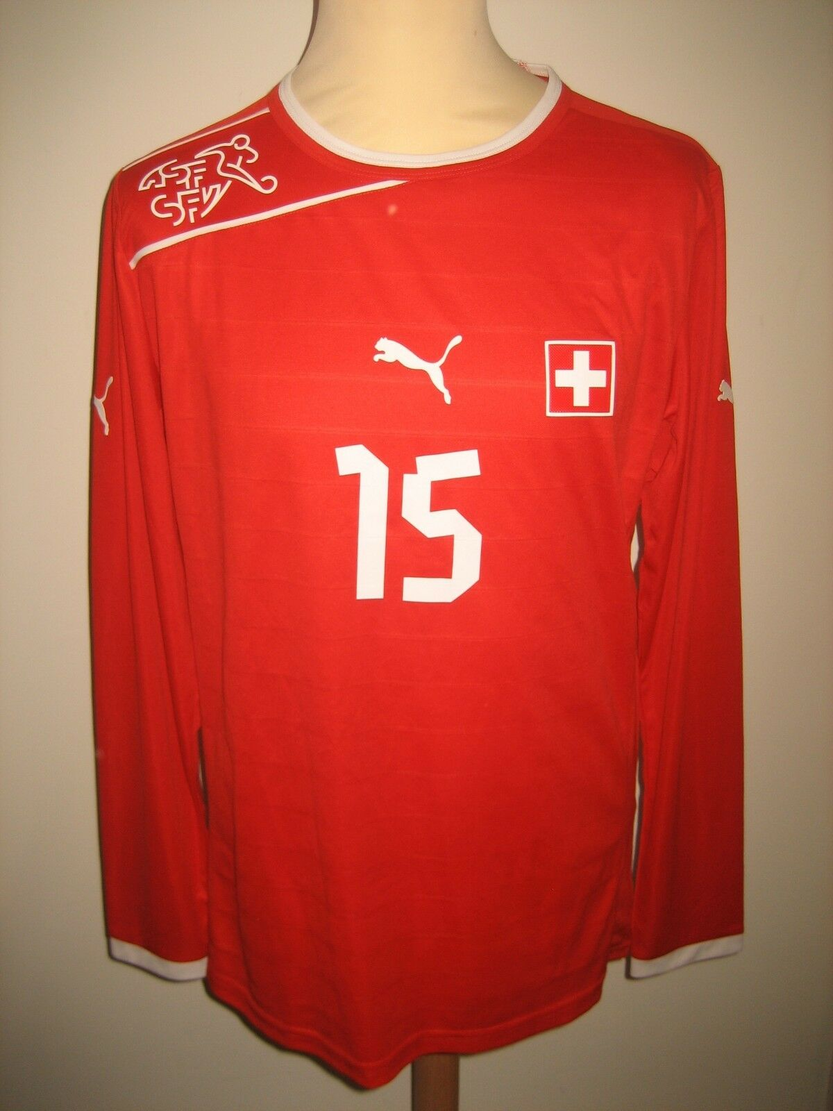 Switzerland MATCH WORN Schweiz Dzemaili football shirt soccer jersey trikot sz L