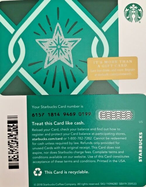 Scales 2018 Starbucks Card #6157