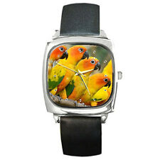 New PARROT SUN CONURE BIRD PET for Square Metal Watch Free Shipping