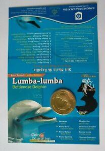Malaysia-2006-Marine-series-Bottlenose-Dolphin-Lumba-lumba-BU-UNC-coin-card