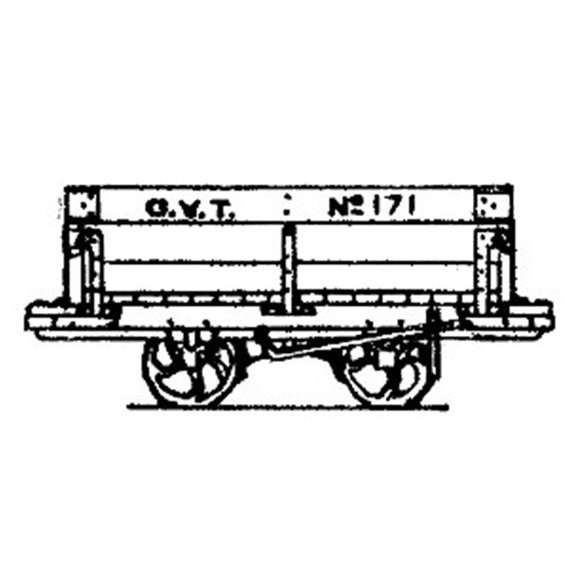 OO9 Glyn Valley Tram VAGONE MINERALI  x 5  - Dundas DM42 –