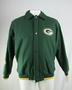 Green-Bay-Packers-NFL-Men-039-s-Big-amp-Tall-Full-Zip-Super-Bowl-Wool-Jacket