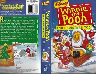 Winnie The Pooh And Christmas Too.Vhs Disney S Winnie The Pooh And Christmas Too 765362853038 Ebay