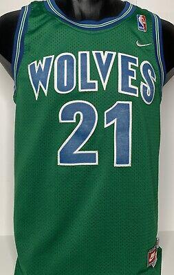 Vtg Green Nike Minnesota Timberwolves Nba Jersey Kevin Garnett