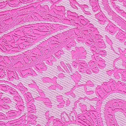 DQT Woven Floral Paisley Fuchsia Pink Formal Wedding Mens Classic Tie
