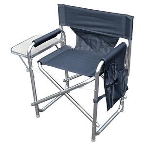 Adroit Gris Robuste Portable Voyage Camping Realisateur Chaise Avec Poches & Table-afficher Le Titre D'origine Soulager Le Rhumatisme Et Le Froid