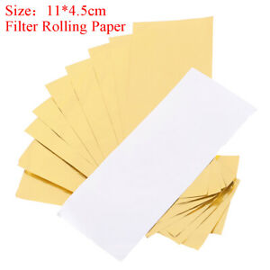 10x-24K-Rolling-paper-filter-tips-110mm-natural-white-unrefined-cigarette-pa-D