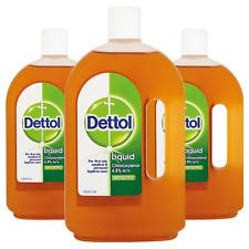 3 x Dettol Original Liquid Antiseptic Disinfectant 750ml Large Bottle?Pack of 3