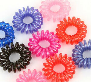 10PCS-Colorful-Fashion-Fun-Lovely-Telephone-Line-Shaped-Hair-Ties-Hair-Bands