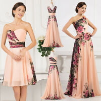 Lady Formal Evening Prom Gown Party Cocktail Wedding Bridesmaid Dress Lace-up