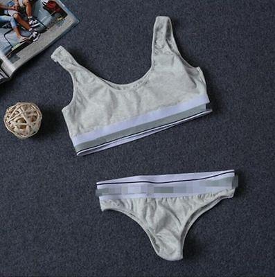 2Pcs/Set Sexy Women Lady Tracksuit Crops Top Pants Sets Sport Wear Suit Clubwear