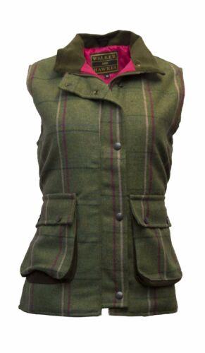 Walker /& Hawkes Ladies Derby Tweed Bodywarmer Waistcoat Gilet Jacket PINK STRIPE