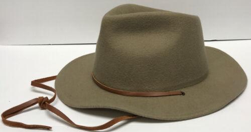 Yellow 108 Brown Merino Wool Western Fedora Hat Si
