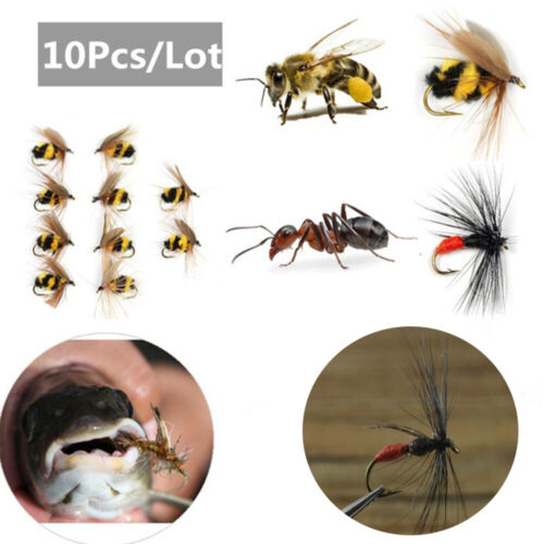 Swimbaits Portable Fly Trout Fishing Lures Bionic Bait Insect Crank Bee Ant