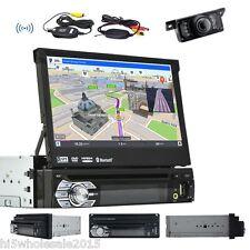 "1 Din GPS Navi 7"" Car DVD Player In Dash FM Receiver Bluetooth Audio Stereo+CAM"