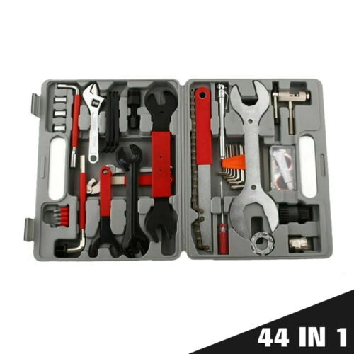 44Pcs//set Complete Bike Bicycle Repair Tools Tool Kit Set Home Mechanic Cycling