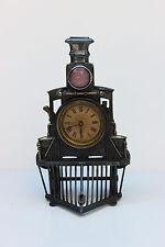 Very RARE 1878 Silver-Plate Train Locomotive Clock Germany