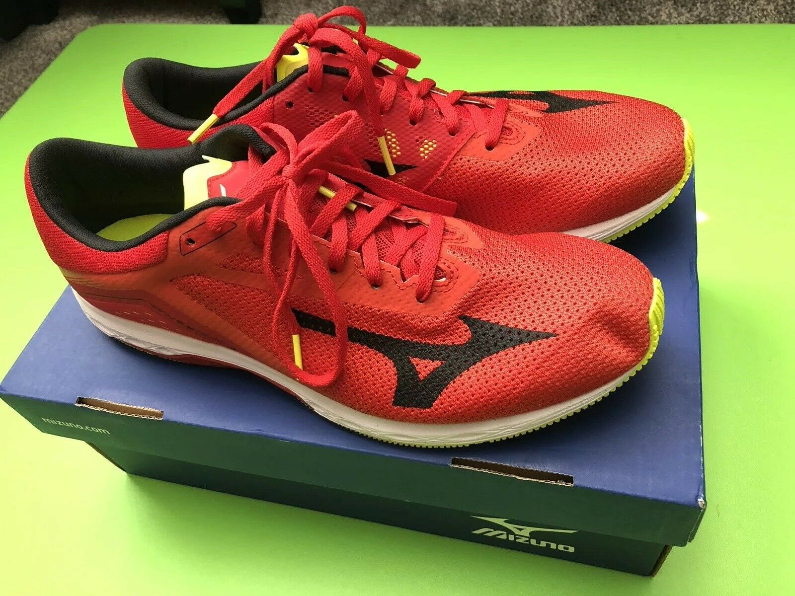 Wave Sonic Mens Size 10.5 Running shoes Red Black Yellow