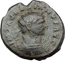 Aurelian receiving globe from Jupiter Ancient Roman Coin Jupiter Cult  i41184