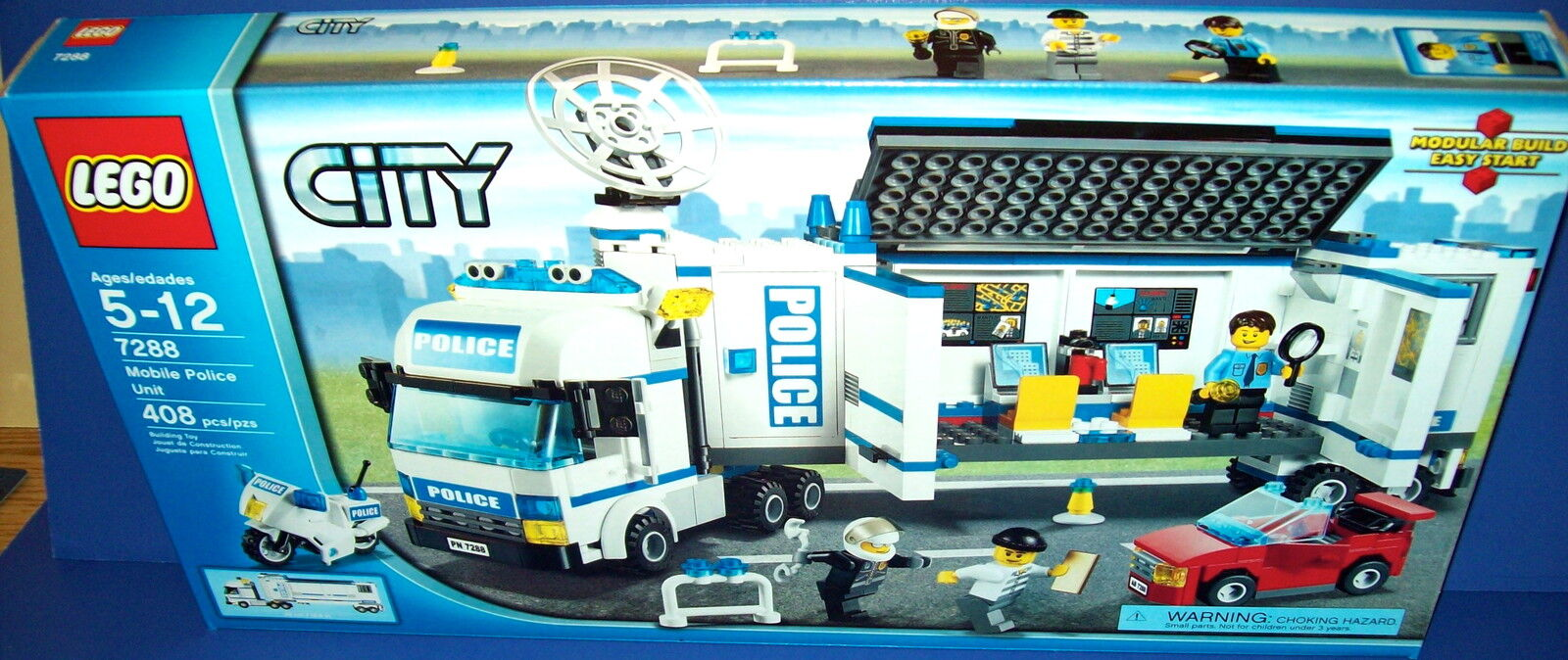 LEGO 7288 - MOBILE POLICE UNIT city lego RETIrosso new sealed