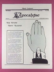 Harry Lorayne's Apocalypse - Magiciens Newsletter Vol.3 Numéro 2 - 1980 -
