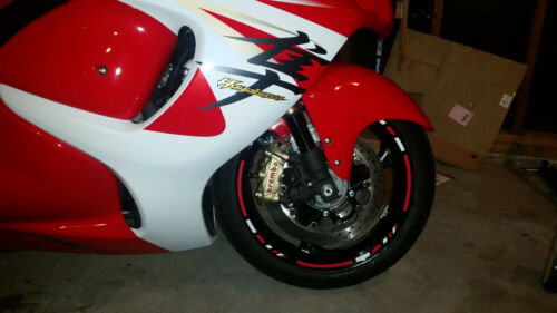 CUSTOM RIM STRIPES WHEEL DECALS TAPE STICKERS SUZUKI GSXR 600 750 1000 Hayabusa