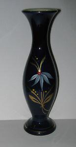 Sehr-alte-Vase-Echt-Cobalt-handbemalt-50er-60er-Jahre-19-cm-hoch