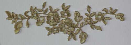 1 X Metallic Gold Silver Lace Applique Wedding Motif size #31-1 27 cm x 8.5 cm