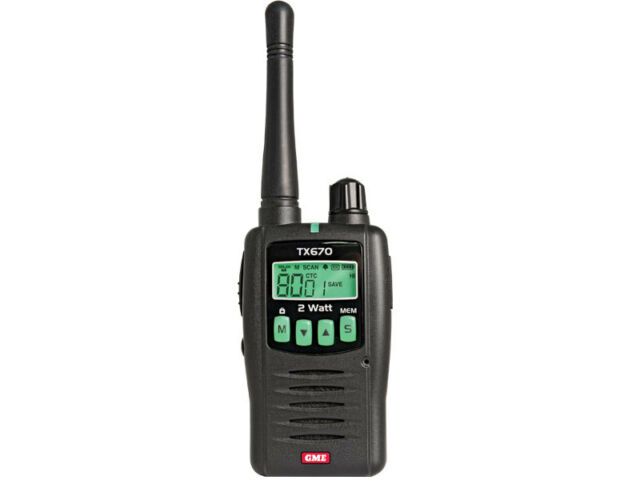 GME TX670 2 WATT SINGLE UHF CB HANDHELD RADIO 80 CHANNEL COMES NO PACKGING