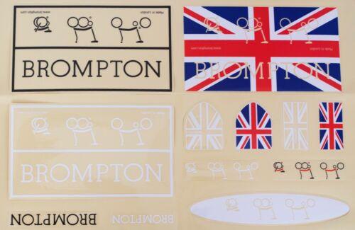 Autocollant Set pour BROMPTON 12pc Vinyl Decals