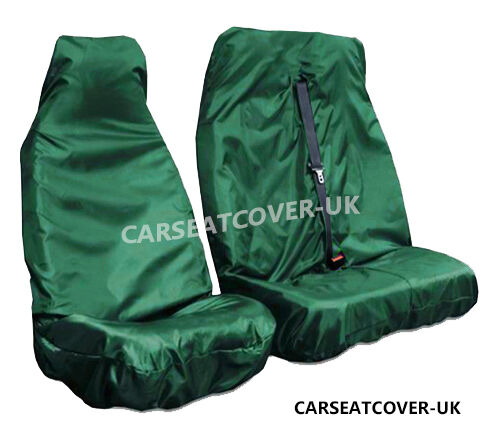 07-16 Green HEAVY DUTY Waterproof VAN Seat COVERS 2+1 Peugeot Expert