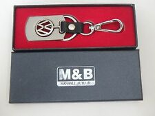 VW Logo key chain w/ leather and S.steel