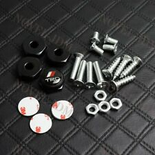 4X Car License Plate Frame Screw Bolt Cap Cover Screw Bolts Nuts For VOLVO