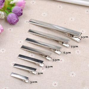 KE-20x-Flat-Metal-Single-Prong-Alligator-Clips-Barrette-Bows-DIY-Hair-Accesso