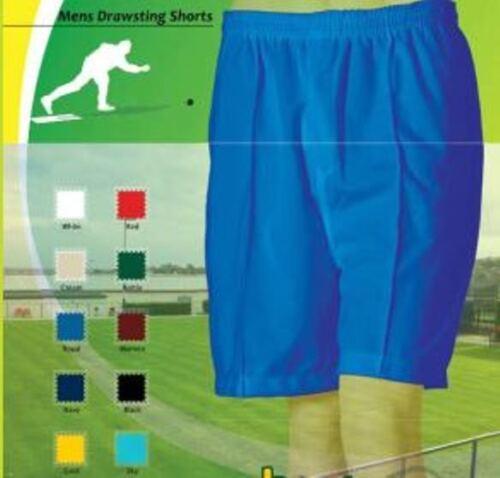 Bowls Australia Mens Comfit Fit SHORTS Drawstring Waist 10 colours XS 6XL 4XL