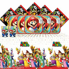 Super Mario Bros Brothers Happy Birthday Party Tableware Pack For 8 People