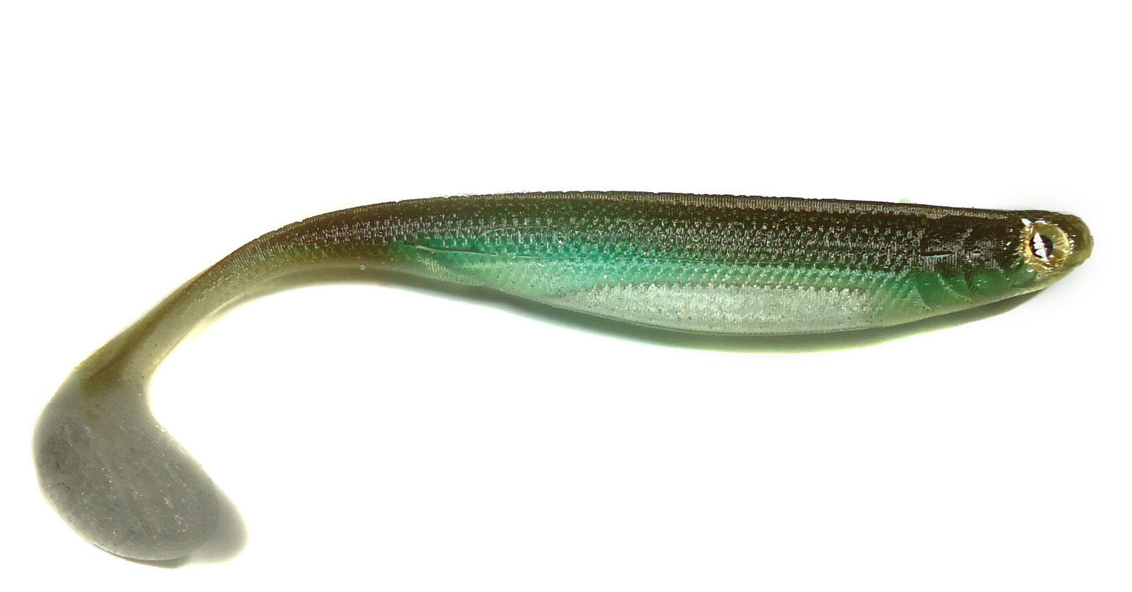 552 Silver Shad LUCKY CRAFT x OPTIMUM BAITS Opti Grub 5 inch